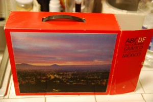 ABC DF carton, with lens