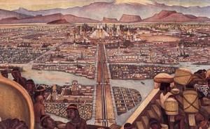 Detail of Rivera's mural
