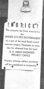Notice forbidding Entry from New Burlington