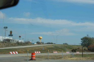 Smiley Face Water Tower in Iowa