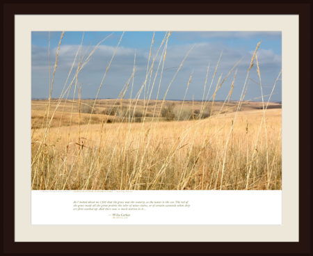 GRASS IS TO COUNTRY AS WATER IS TO SEA — Red Cloud, Nebraska