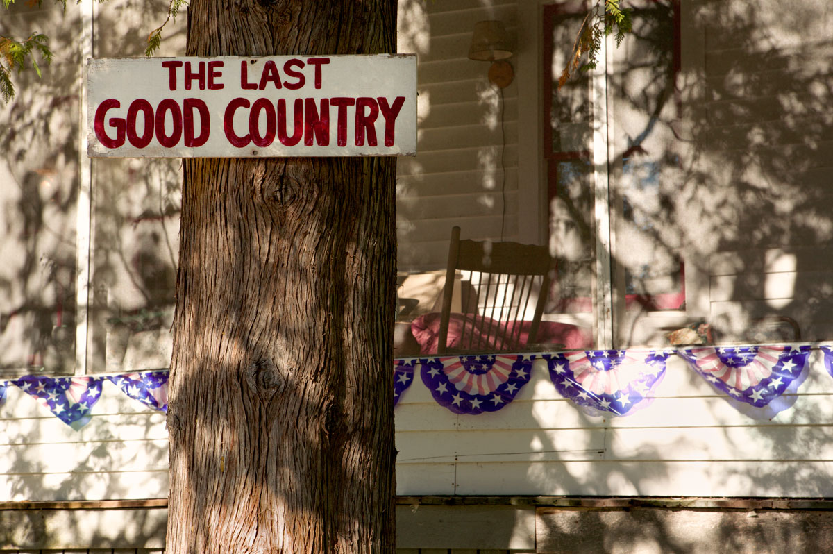 Photo of The Last Good Country sign at the Red Fox Inn — Horton Bay, Michigan