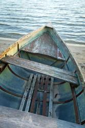 Photo of old wooden boat — Horton Bay, Michigan