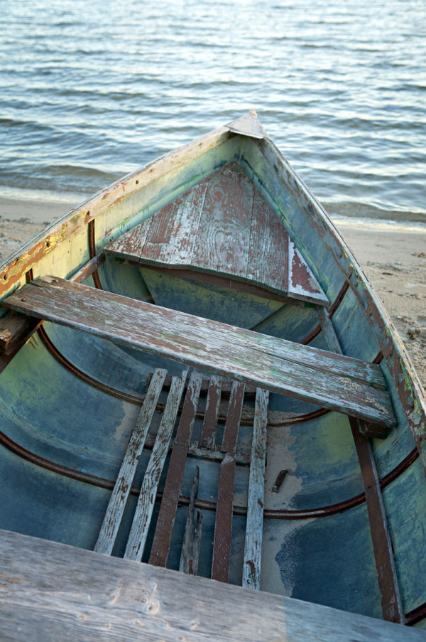 Photo of old wooden boat — Horton Bay, Michigan