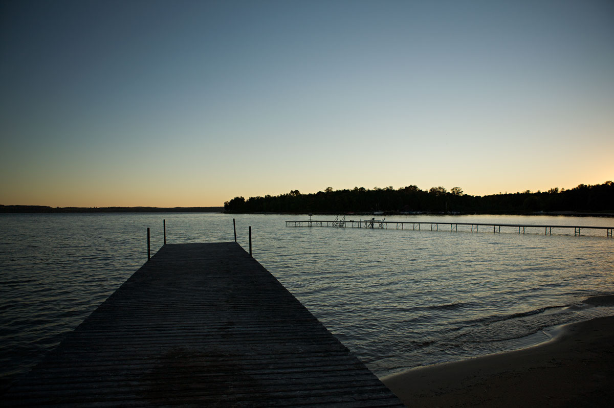Photo of Horton Bay dock on Lake Charlevoix — Horton Bay, Michigan