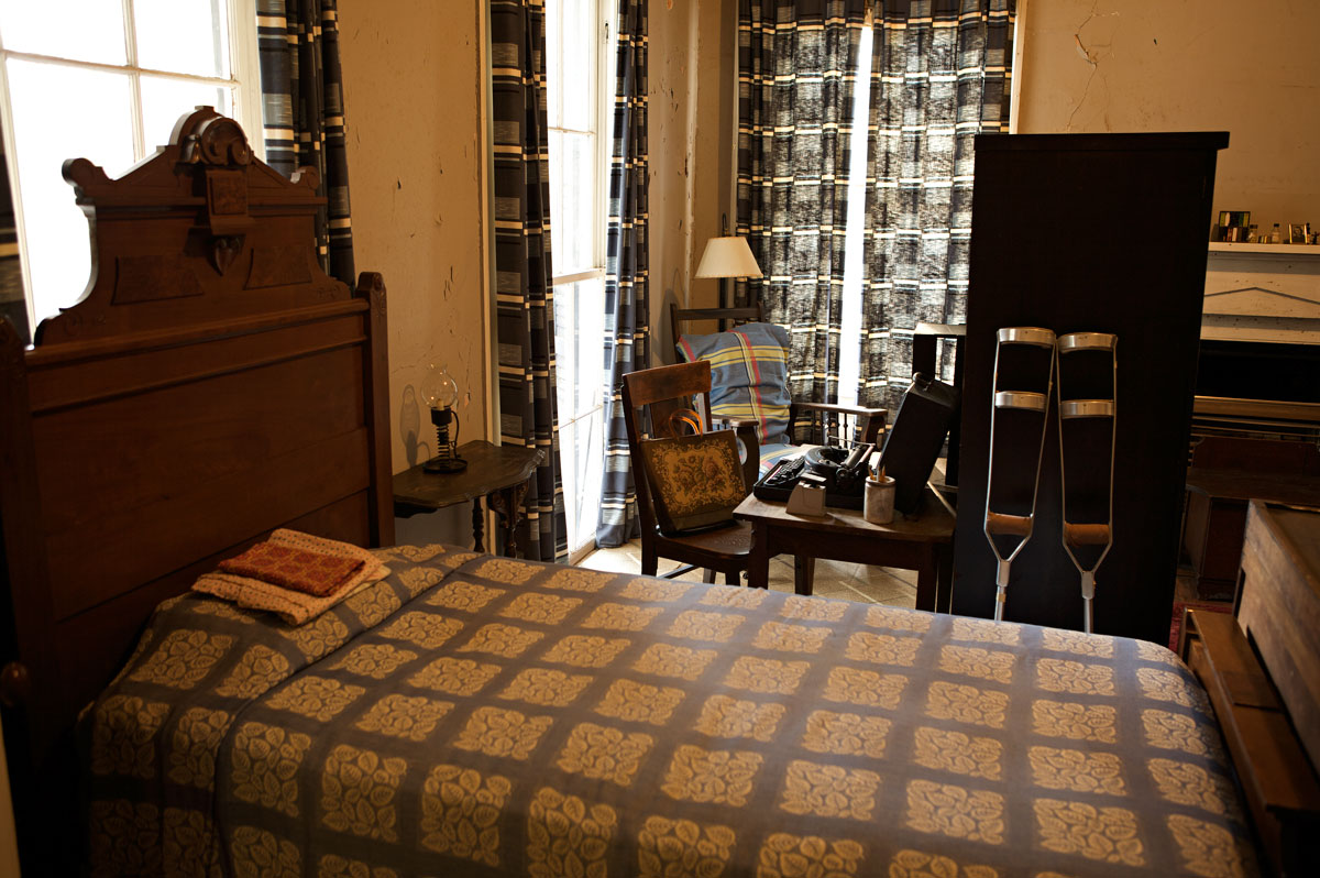 Photo of Flannery O'Connor's room at Andalusia
