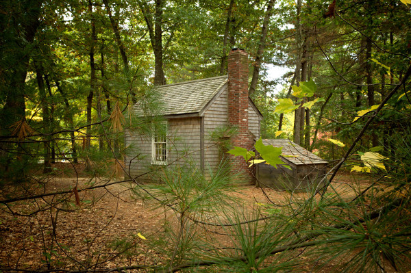 Photo of Thoreau's Walden Pond cabin — Concord, Massachusetts