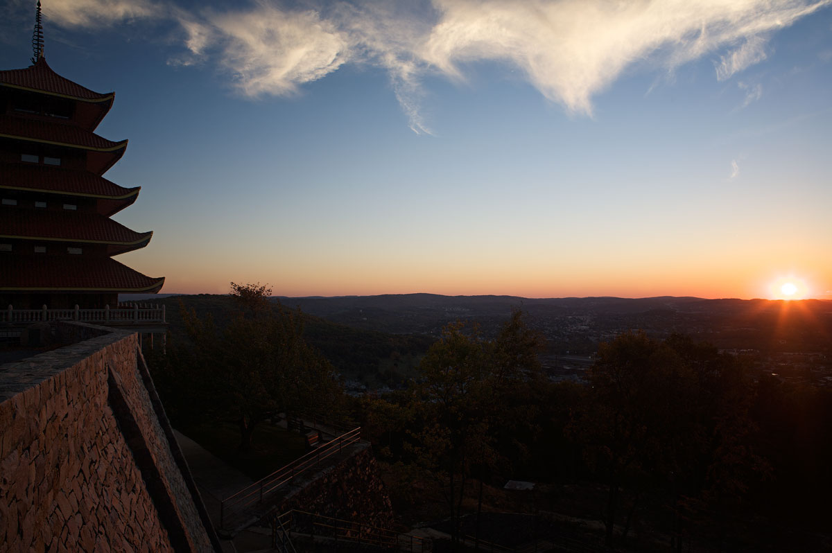 Photo of Pagoda at the top of Reading's Mount Penn