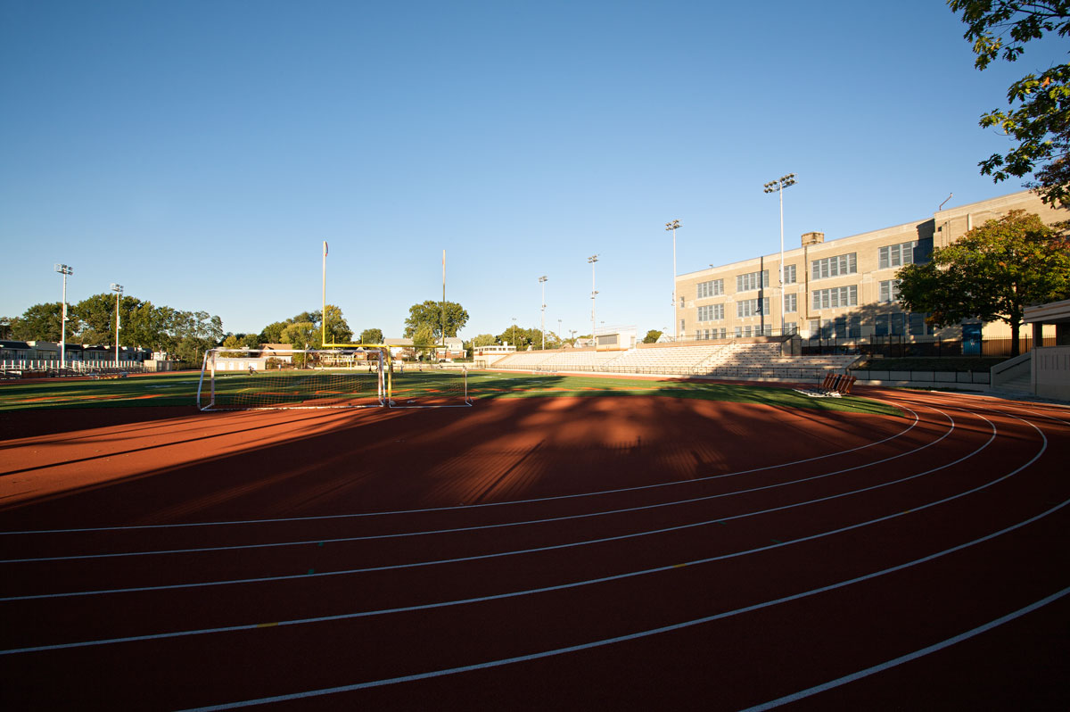 Photo of Weequahic High School athletic field — Newark, New Jersey