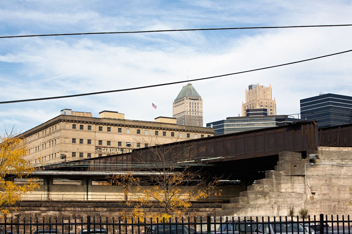 Photo of Hoisted Tracks — Newark, New Jersey