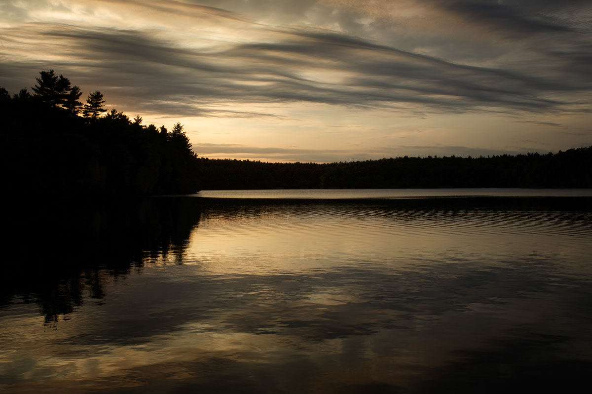Photo of Walden Pond at Sunset — Concord, Massachusetts