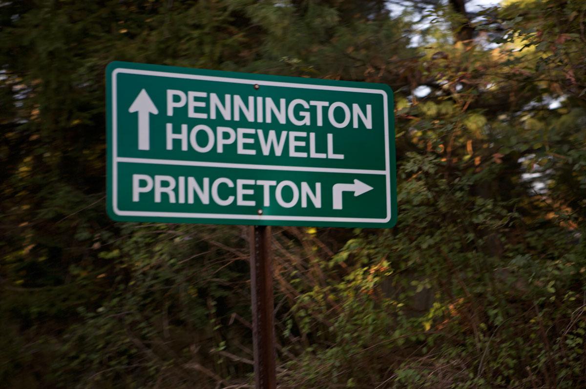 Photo of Pennington Hopewell Princeton ROAD SIGN
