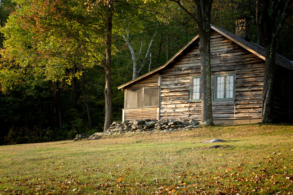 Photo of Robert Frost's cabin — Ripton, Vermont