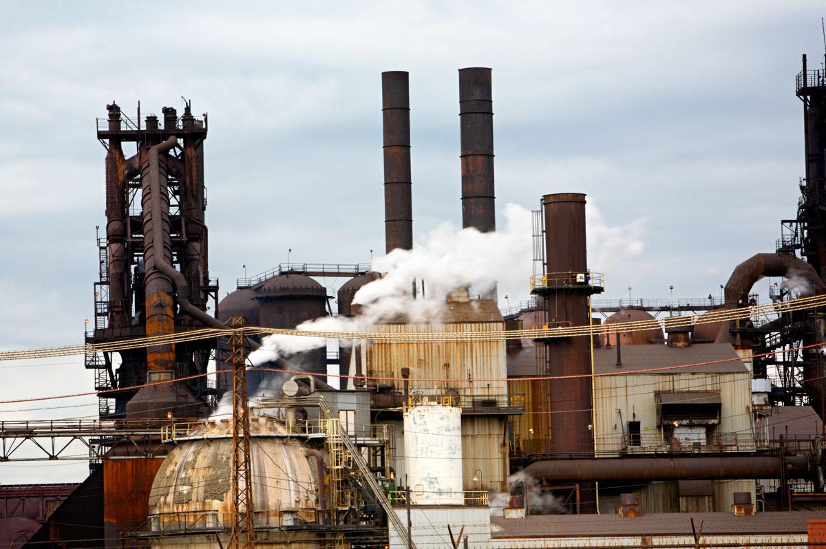 Photo of Lorain's steel mill