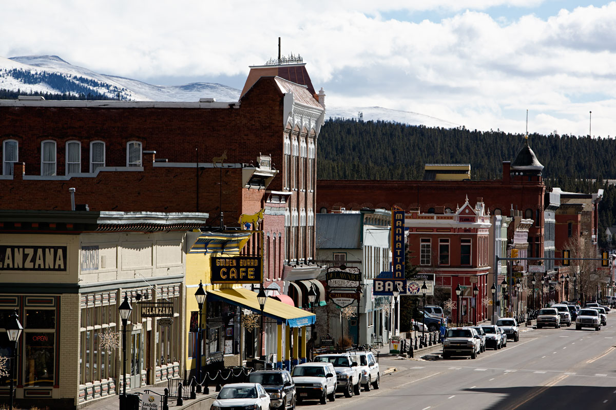 Photo of Leadville's main street