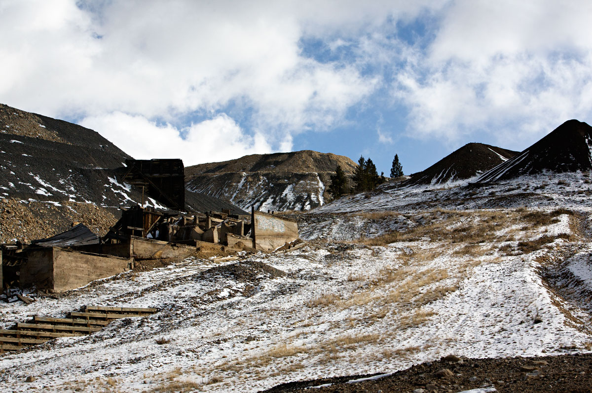 Photo of mining district east of Leadville, Colorado.