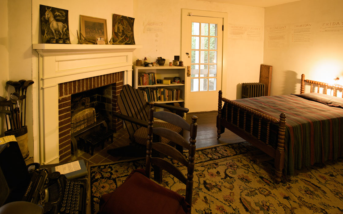 Photo of William Faulkner's study at Rowan Oak
